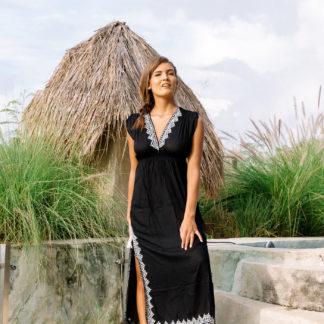 robe mogador hippie chic noire