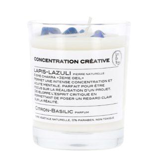 Bougie parfumée de lithothérapie