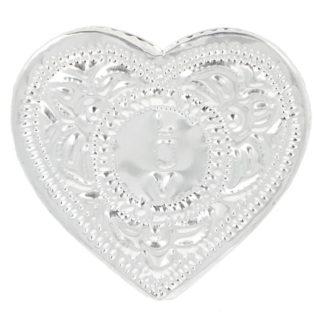 Coffret Coeur de trois mini bougies parfumées ornées de pierres semi-précieuses